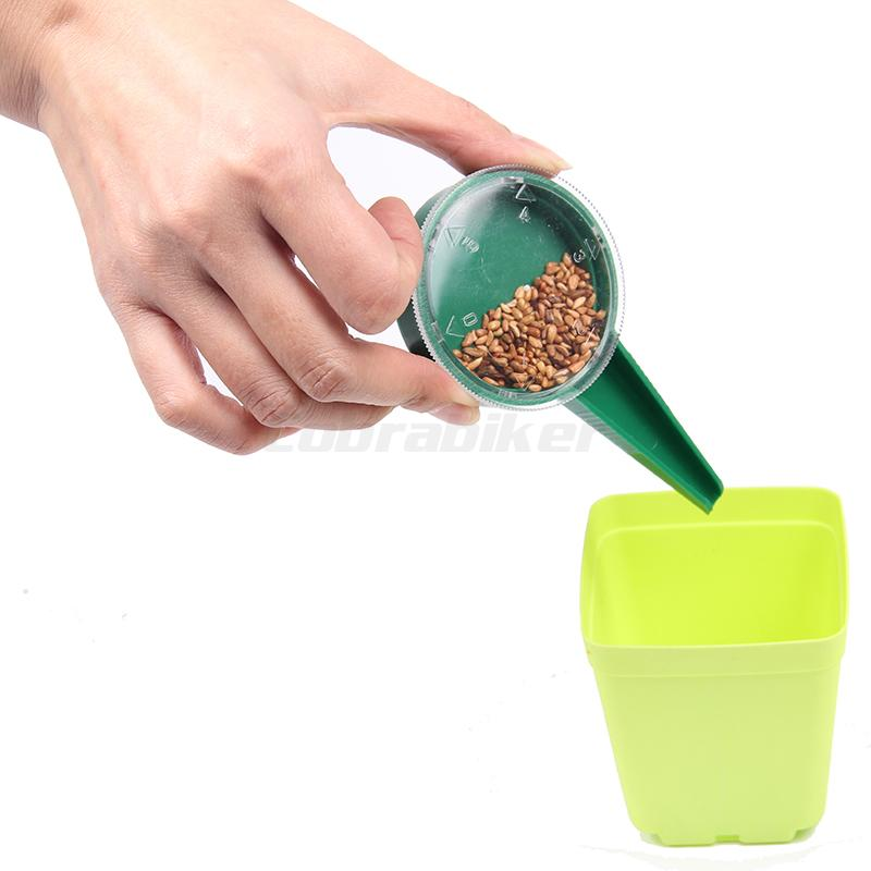 New Vegetable Seeds Disseminator Tool Fashion Storage Box Garden Seeder Sowing Slower Gardening Supplies 5 Size Adjustable(China (Mainland))