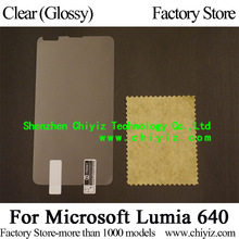 Clear Glossy Screen Protector Guard Cover protective Film For Microsoft Lumia 640 (5 inch)