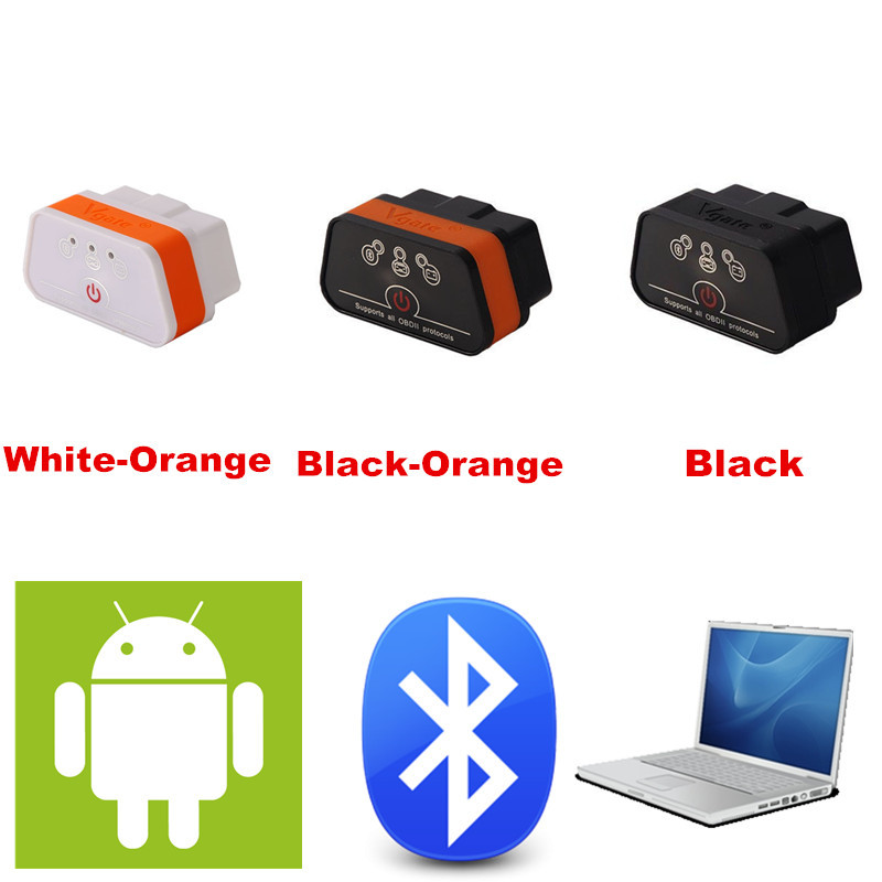 Wholesale Vgate ELM 327 Bluetooth iCar 2 OBDII ELM327 iCar2 Bluetooth Vgate OBD Diagnostic Interface Support for Android and PC(China (Mainland))