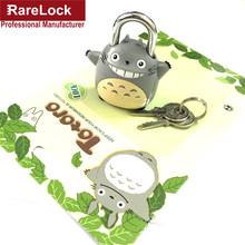 LHX AMMS288 Padlock Lovely Cute My Neighbor Totoro Chinchilla Lock Children's Lock Compact Luggage Travel or Sport Bag Locks