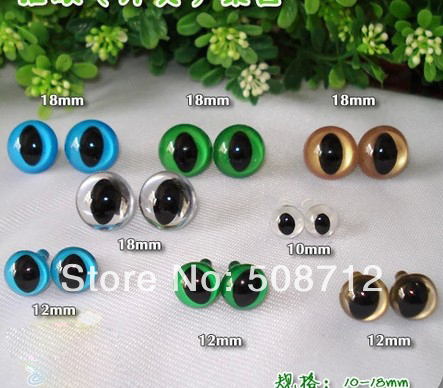 fress ship!!!18mm 4-colors Animal Eyes Safety Eyes CAT Eyes for Amigurumi(China (Mainland))