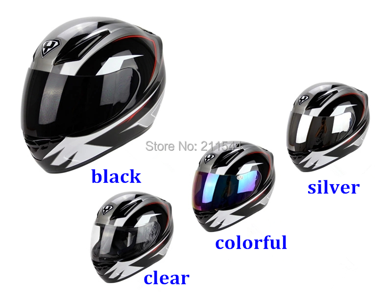 Free shipping Motorcycle Full face helmet visor YOHE helmet lens suit for YOHE 990/991/993 / transparent color Silver Black Lens(China (Mainland))