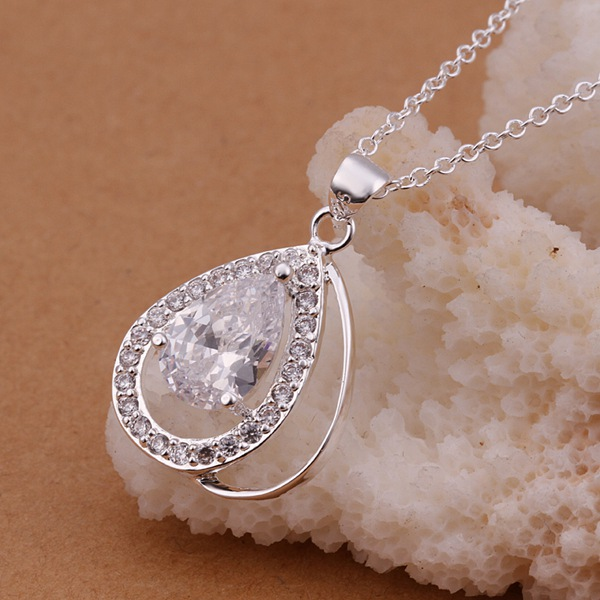 Hot Sale 2015 New Fashon neck lace for wedding bohemian necklace sterling silver pendants uk fashion 925 silver necklesses(China (Mainland))