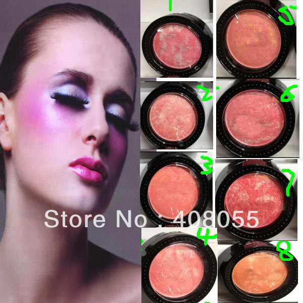 2013 hot selling 2pcs/lot brand powder blush with brush Cosmetic make up blusher for fashion women mineral blusher Free shipping