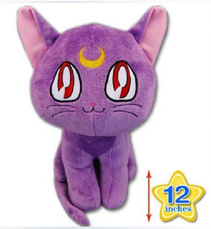 "12"" Japanese Anime Cartoon Sailor Moon Cat Luna Plush Animal Plush Doll Figure Toy(China (Mainland))"