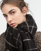 Za Brand White Red Women Men Winter Cashmere Wool Scottish Oversize British England Tartan Warm Shawl Blanket Black Plaid Scarf