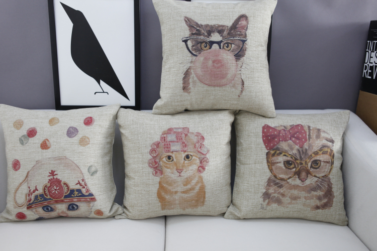 Wholesale New products American Village Pillows Decorate boutique cat Pillow Cover European-style garden Cushion Cover(China (Mainland))