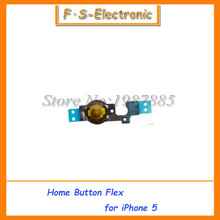 10pcs/lot High Quality Home Button Flex Cable Replacement Repair Parts for iPhone 5 5G