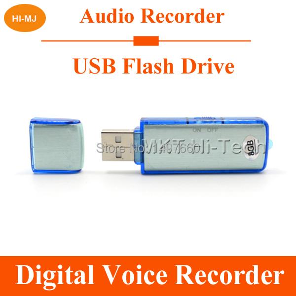 Hidden Mini Dictaphone 8GB Digital Voice Recorder Professional USB Flash Drive Rechargeable Spy Audio Recorder Pen 150 Hours WAV(China (Mainland))