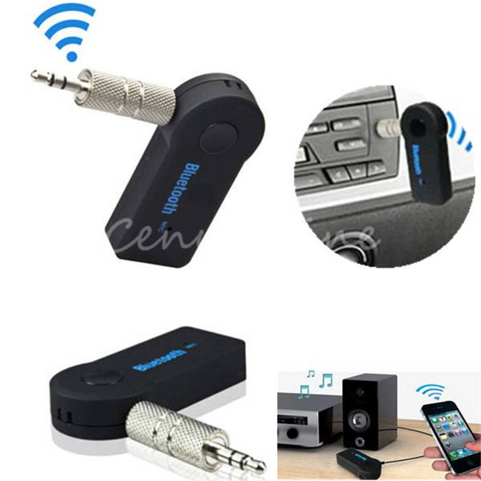 Wholesale Price Universal 3.5mm Streaming Car A2DP Wireless Bluetooth AUX Audio Music Receiver Adapter with Mic For Phone MP3(China (Mainland))