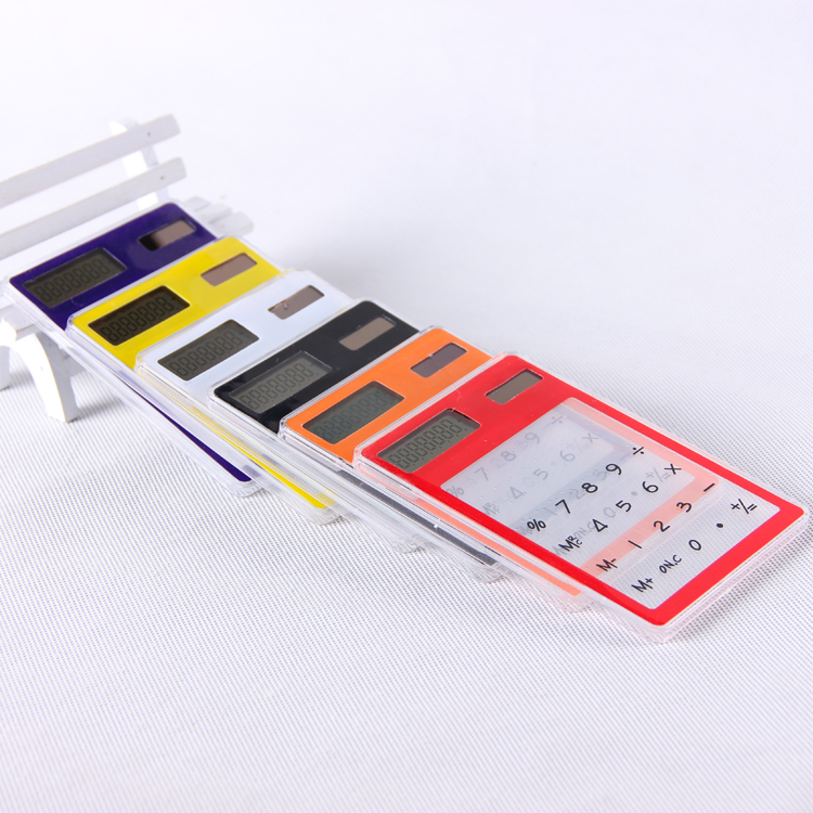 Dot mini calculator transparent ultra-thin touch screen computer 8(China (Mainland))