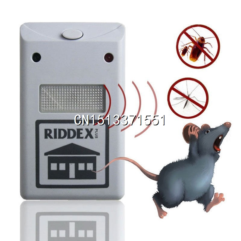Brand new 220V Ultrasonic Riddex Plus Electronic Pest Rodent Repeller Regular Box Scentless Rechargeable(China (Mainland))