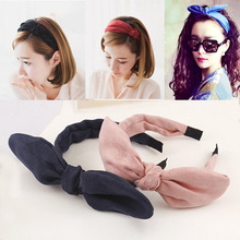 Korean headdress hair accessories cotton cashmere bow rabbit ears hair bands, free home delivery