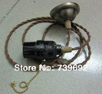 Эдисон лампа e27 белый цвет трек фары ретро люстра линии сингл руководитель люстра силиконовый держатель