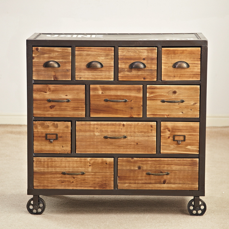American country to do the old retro Drawers bucket with a roller 12 to do the old rural storage cabinets cabinet LOFT bar cabin(China (Mainland))