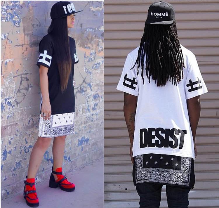 Alisister harajuku стиль мужчины / женские хип-хоп футболки летом с коротким рукавом расширенный майка хип-хоп футболку уличной верхнего