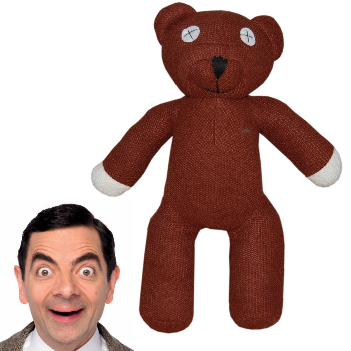 Mr bean bear doll toys 1pcs 1# 25cm olympic bear mini teddy bear plush bear toys Gifts free shipping(China (Mainland))