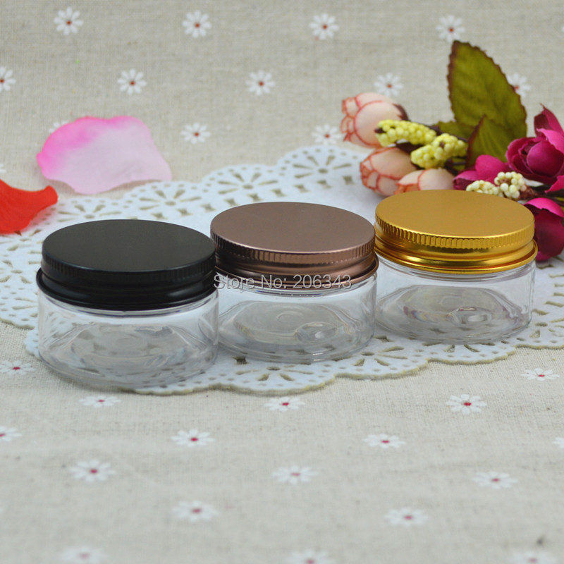 30G transparent PET cream bottle,cosmetic container,cream jar,Cosmetic Jar with black or bronze or gold lid ,Cosmetic Packaging<br><br>Aliexpress