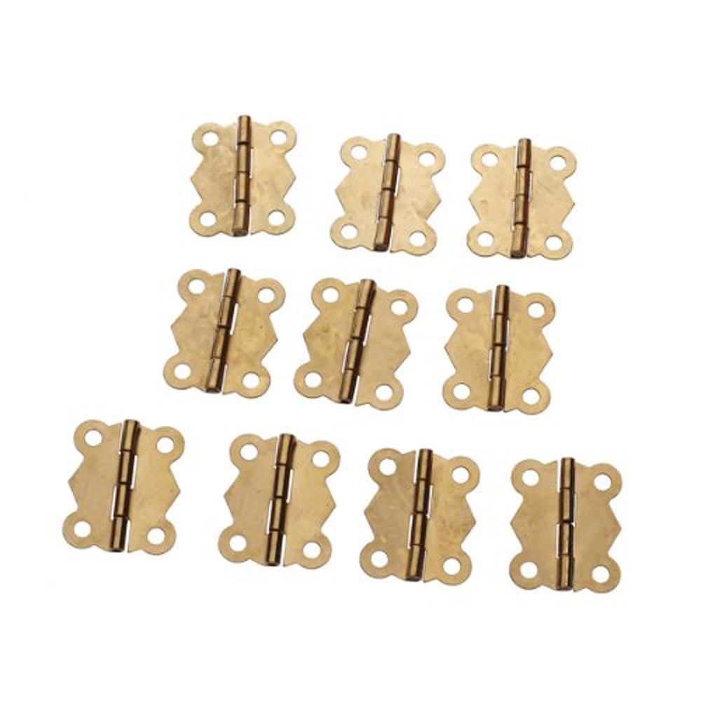 JFYB 10Pcs Mini Iron Butterfly Hinges Cabinet Drawer Door Butt Hinge(China (Mainland))