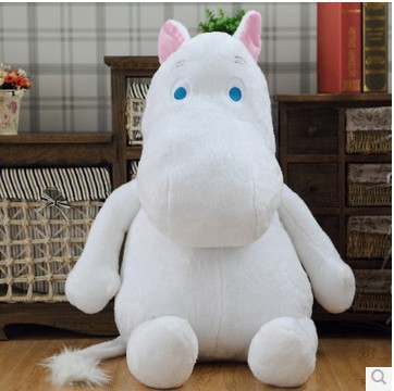 filling toy cartoon moomin hippo plush toy soft throw pillow gift w5341(China (Mainland))