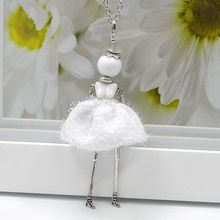 2014 New Arrival Doll Pendants Cute Girl Necklace Women Jewelry hot sale charms pendants jewelry free