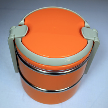 2013 New Arrival!Double Layer Stainless Steel Children Lunch Box 1.4L Keep Warm Food Container,free shipping