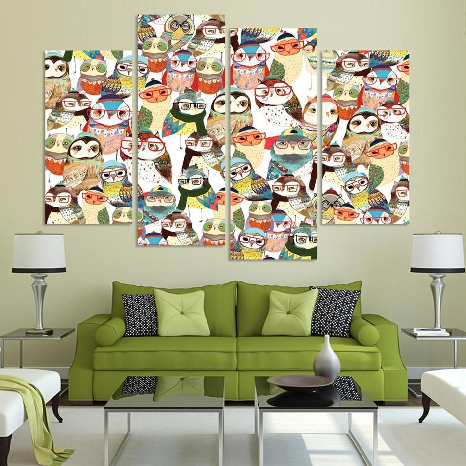 Hoge kwaliteit groothandel acryl schilderijen van uilen van ...