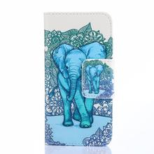 For Alcatel C7 Case Printed Painting Skin Flip Leather Case Cover For Alcatel One Touch POP C7 Soft Silicon Wallet Card Slot )
