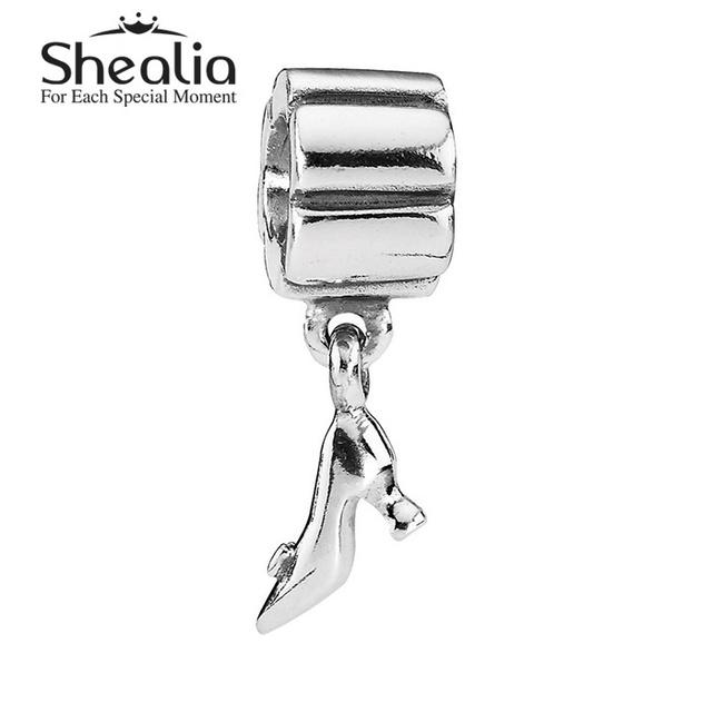 925 чистое серебро стилет мотаться подвески-талисманы высокая - пятки обувной подвески для женщины подходит своими руками браслеты SH0581