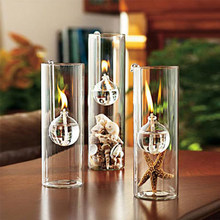 Luxury Handmade Creative Glass Oil Lamp Candlelight Dinner Handmade Candle Holders Transparent Glass Cylinder Hook Lamp Marriage(China (Mainland))
