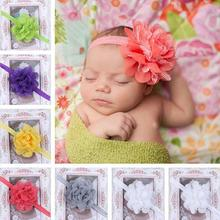 11 Colors Fascinator Bebe Menina Flower Headbands Baby Headband Girls Headwear Newborn Toddler Hair Band BB-237