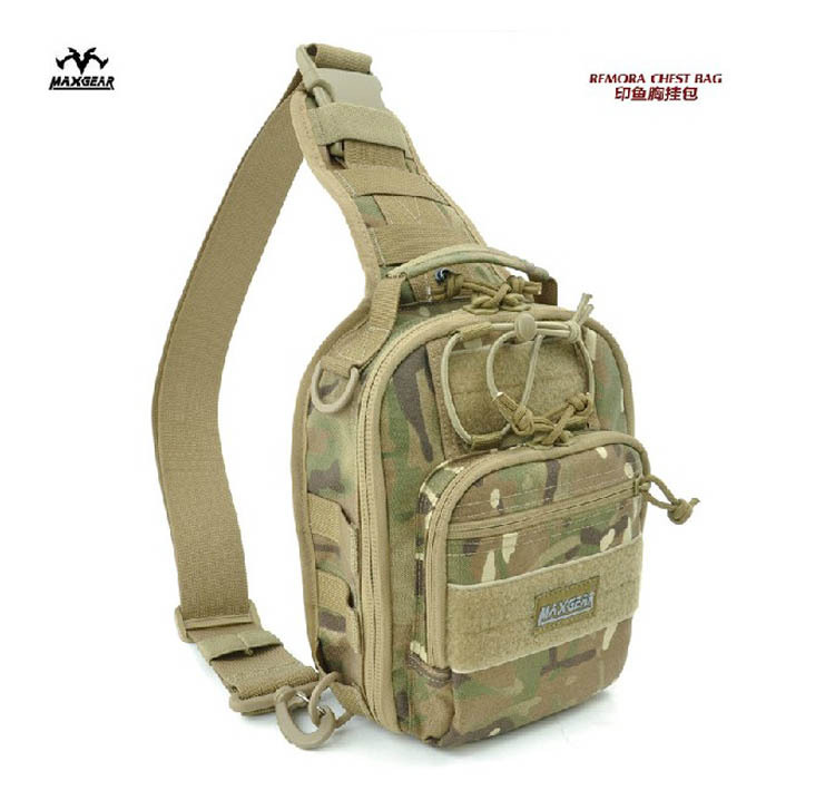 Genuine Maxgear 0419 1000D Waterproof Nylon Fabric Chest Bag - Tactical Military Backpack & Outdoor Camping Shoulder Betterman Hardcore Equipment -- Betterman007 / Simon Chen store