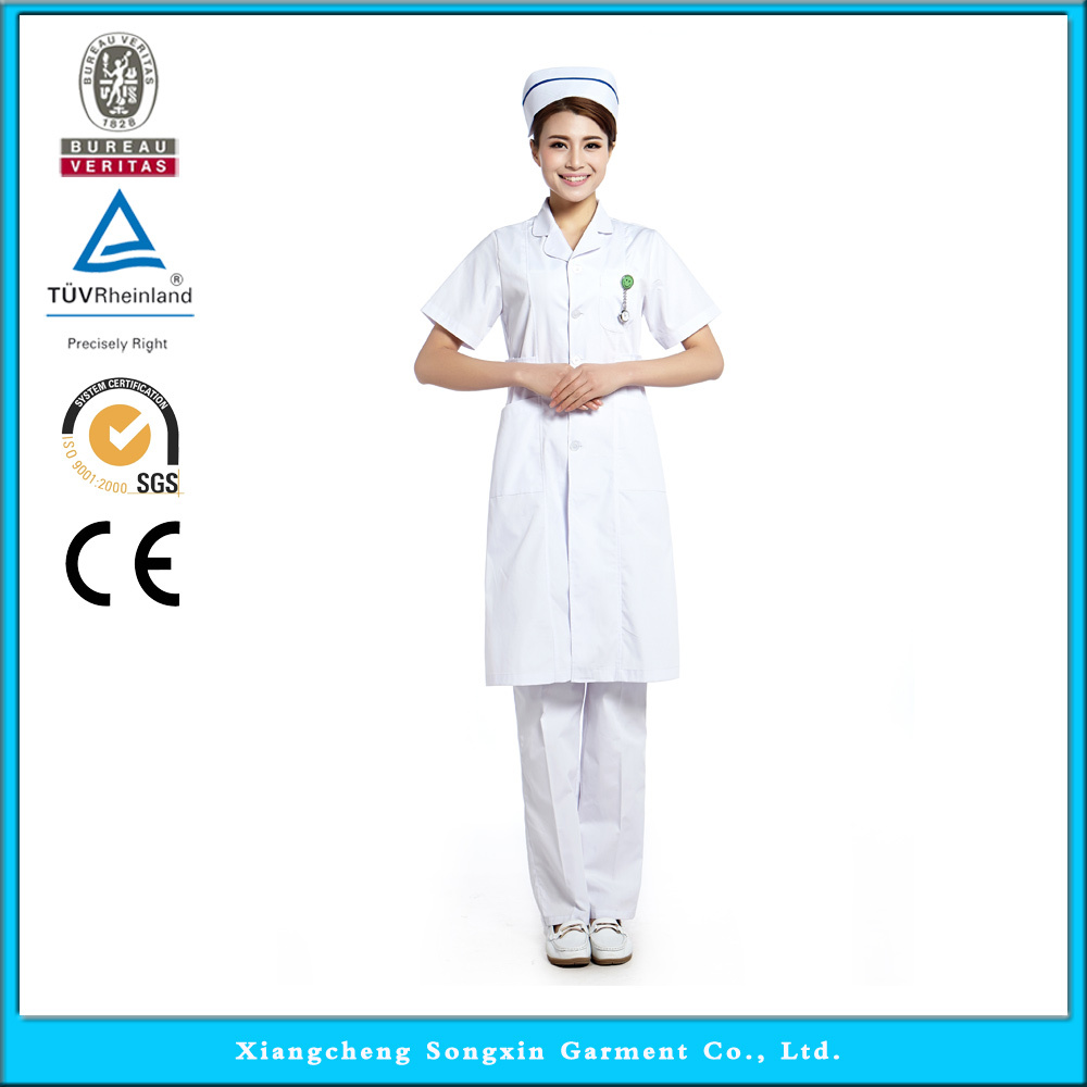2015 OEM nurse uniform hospital lab coat medical scrub short sleeve hot selling(China (Mainland))