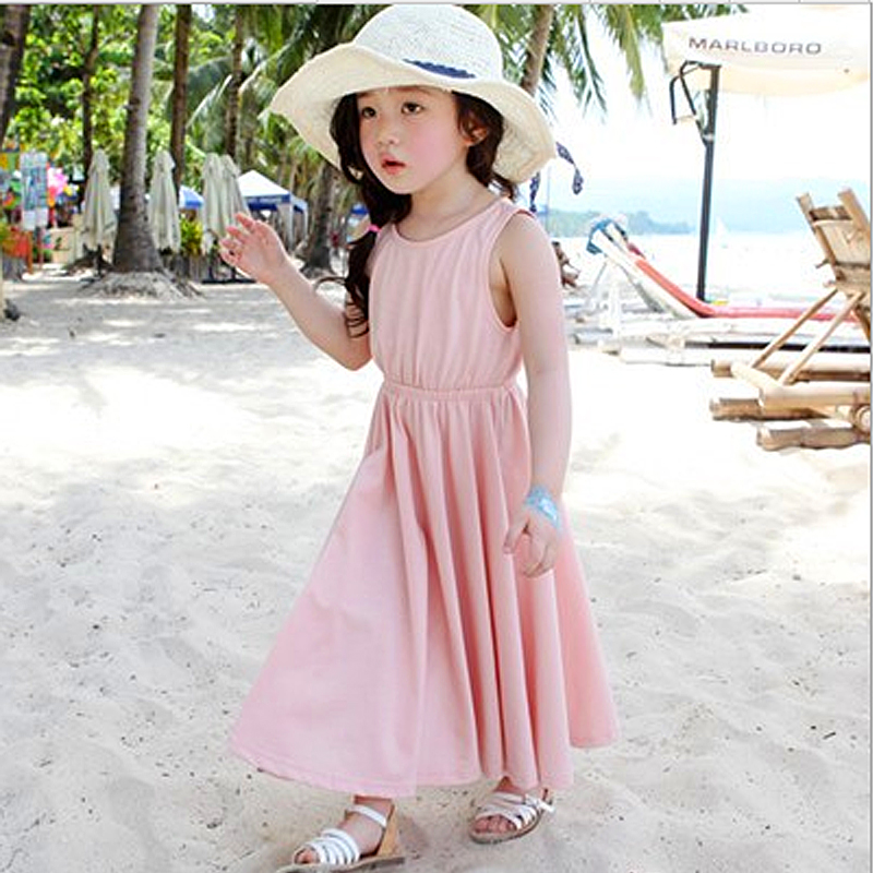 2017 New Chiffon style children's Dress summer Beach princess personality dress baby girl clothes kids dresses for girls Sunny(China (Mainland))