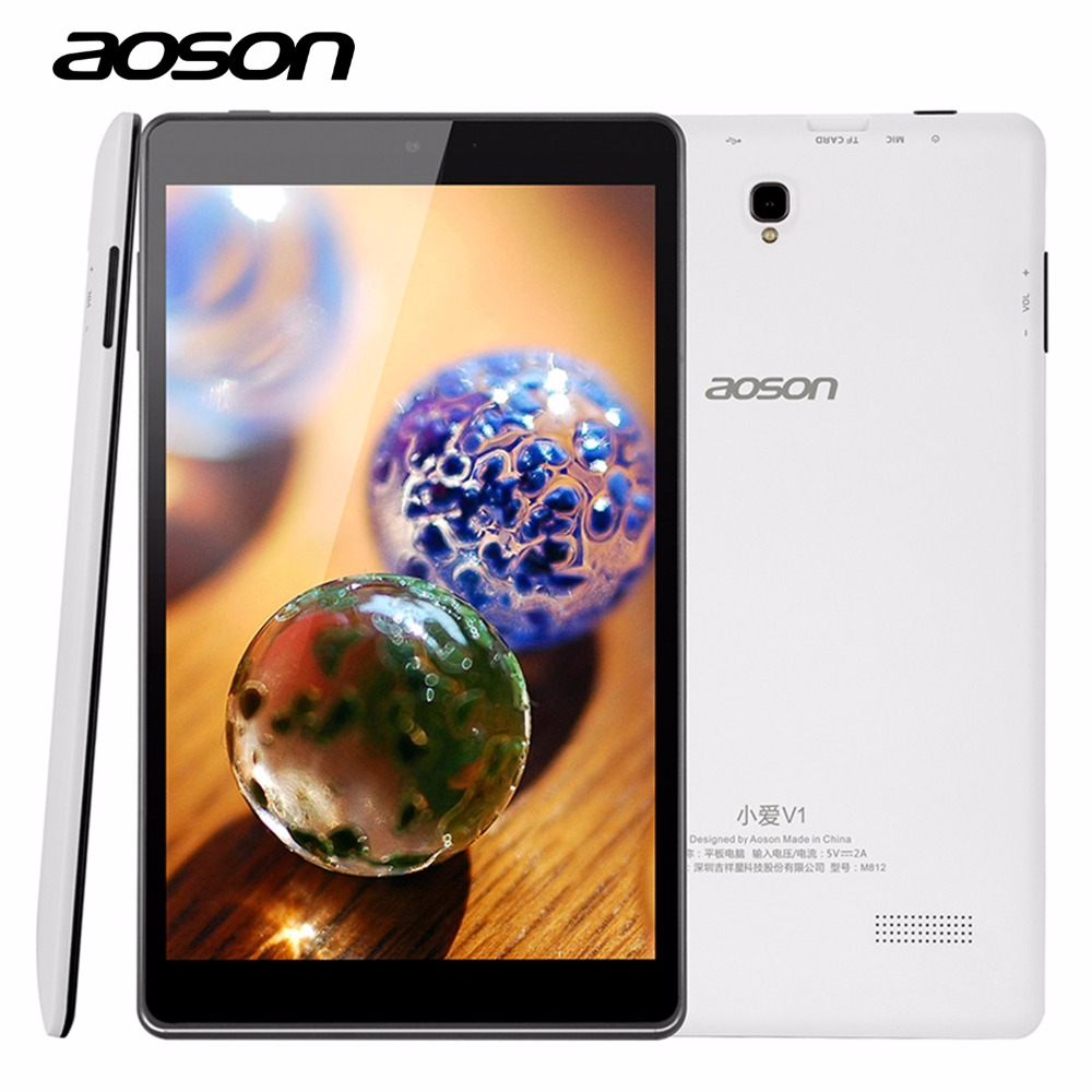 New M812 Google Android 5.1 8 Inch PC Tablet Aoson A33 Quad Core PAD HD IPS Screen 1280x800 Wifi 1GB 16GB ROM Dual Camera 5MP(China (Mainland))