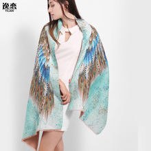 YI LIAN Brand Animal Wing Shawl Cashmere Novelty Designer Scarf For Women Top Quality Fashionable Green color LA081(China (Mainland))
