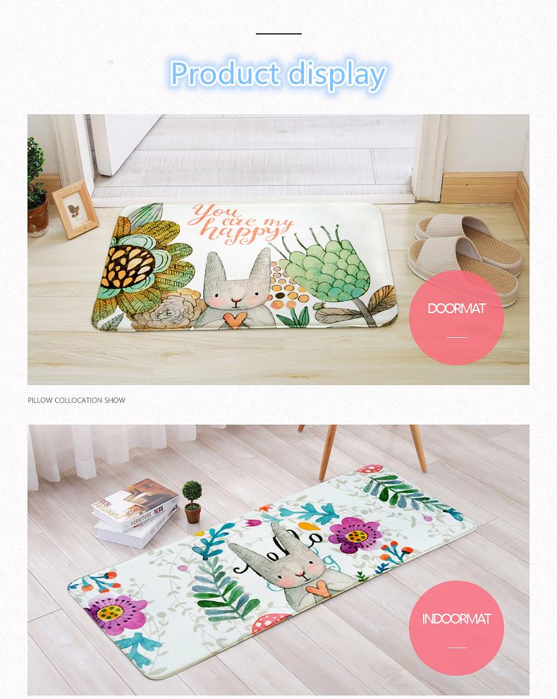 Fairy tale Style Kid Bedroom Cute Rabbit Carpet Indoor Area Villus ...