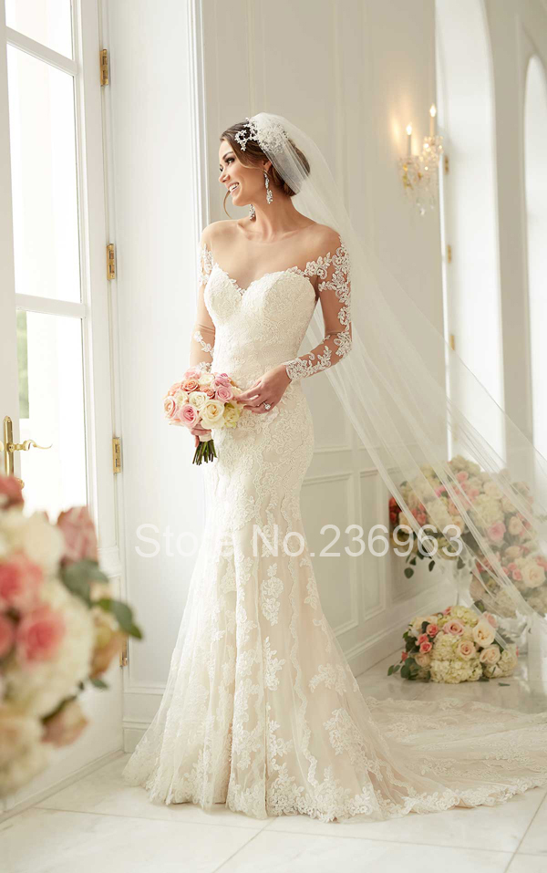 Sleeve Lace Wedding Dresses vestido de casamento Hippie Wedding Dress ...