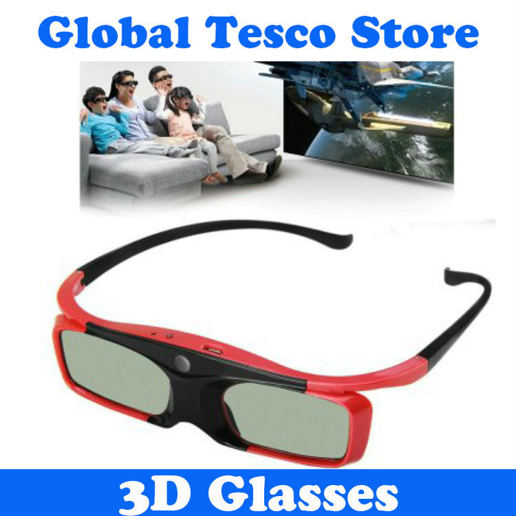 SFT SG16-DLP Super Slim USB Rechargeable 3D Active Shutter Glasses DLP-Link Glasses for Watching 3D Movies(China (Mainland))