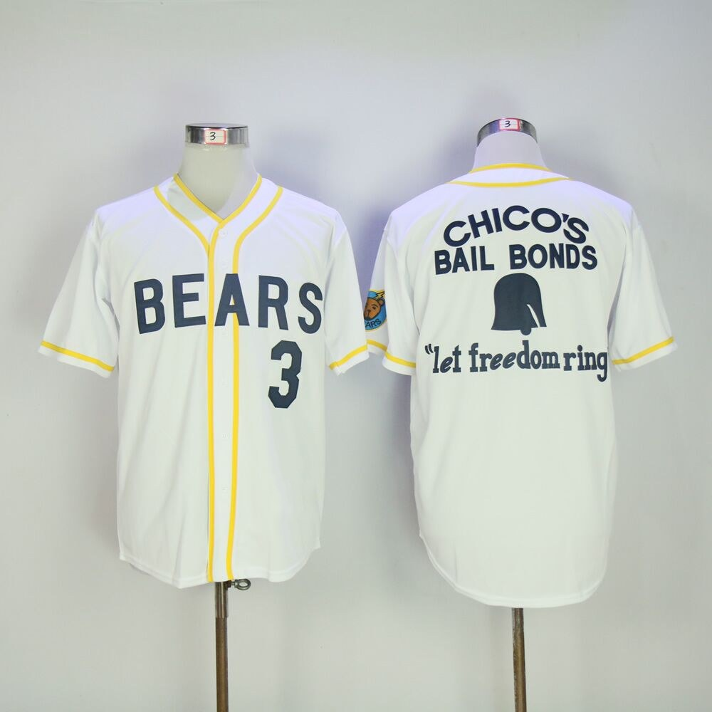 12 Tanner Boyle Bad News Bears Movie 1976 Chico's Bail Bonds WHITE Men Baseball Jersey 3 Kelly Leak Jerseys Viva Villa Free Ship(China (Mainland))