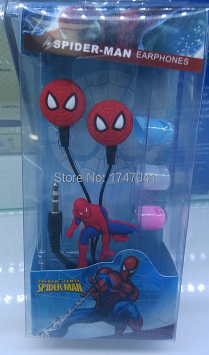 2015 Cell phone Cartoon Earphone Hero Super Spider-Man Headphone Headset 3.5mm in-ear Mobile Phones - PGW Technology ( shenzhen store Co. Ltd.)