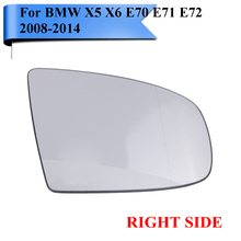Buy Right Side BMW X5 X6 E70 LCI E71 E72 M Sport SUV xDrive 2008-2014 Wide Angle Heated Wing Mirror Glass Bracket #W106-R for $33.59 in AliExpress store