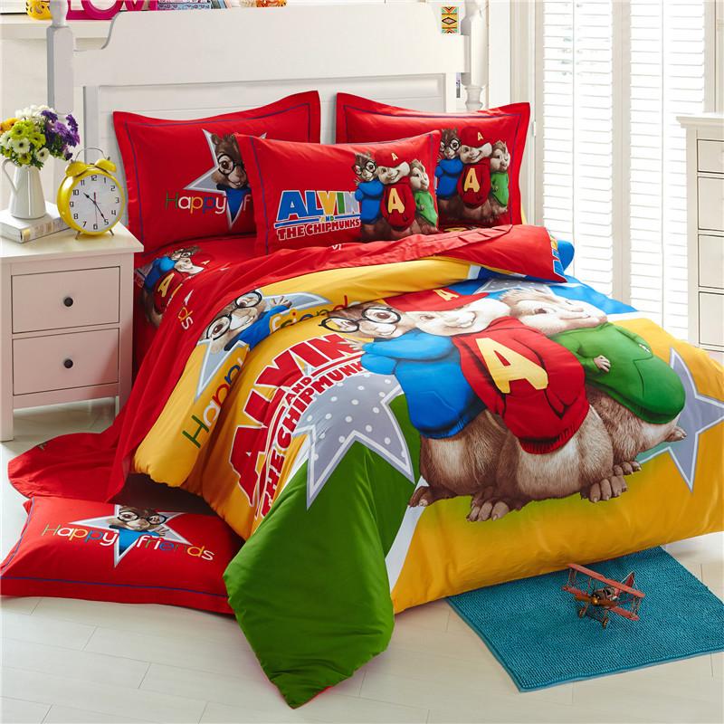 Alvin And The Chipmunks 3D Bedding Sets Cartoon Bed Linen