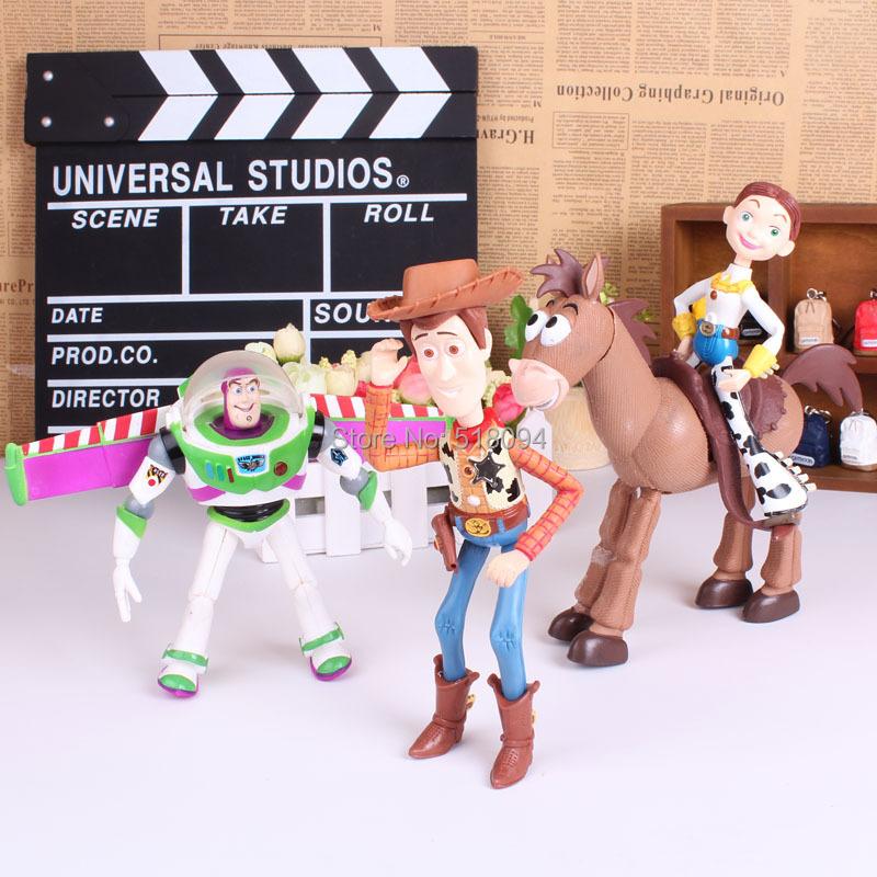 Toy Story 3 Buzz Lightyear Woody Jessie PVC Action Figures Toys Dolls Child Toys 4pcs/set DSFG197(China (Mainland))
