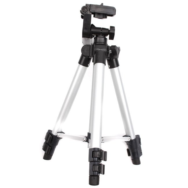 1pc/lot 41inch Flexible 4 Sections Camera Camcorder Tripod Stand Compact Universal Metal Professional Tripod DP672205(China (Mainland))