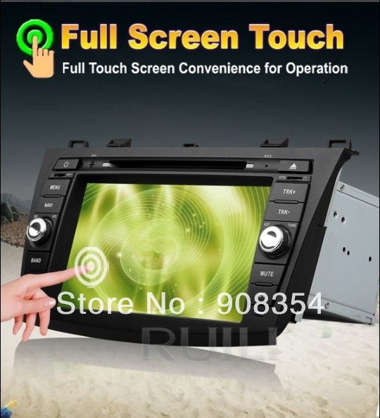 free map free sd card mazda 3 car dvd gps navigation with. Black Bedroom Furniture Sets. Home Design Ideas