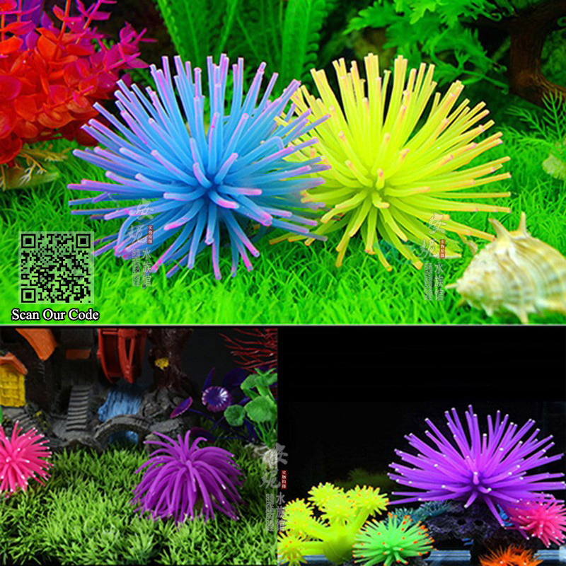 Aquarium Accessories Waterscape,Soft Colorful Silicone Aquarium Artificial Floating Jellyfish Seajelly Coral Plant for fish tank(China (Mainland))