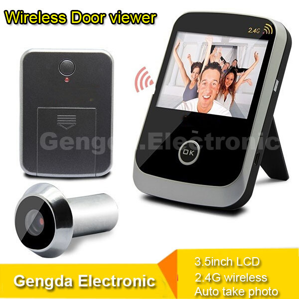 2 4ghz wireless door camera 120 wide angle door peephole for Door viewer camera