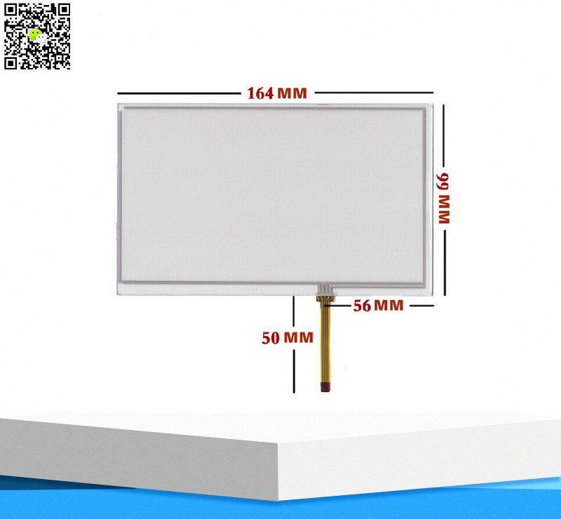 """7.0"""" Inch 164*99 mm AT070TN90 AT070TN93 HD Capacitive Touch Screen Digitizer Glass Panel for Tablet PC MID GPS mp4 Touchscreen(China (Mainland))"""