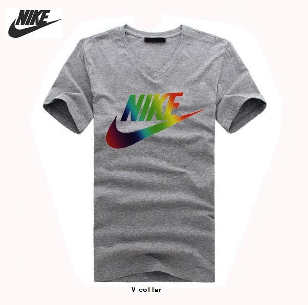 2016 New Arrival Breathable Cotton V-Neck T-Shirts,Sportswear Brand Nike Men's T-Shirts(China (Mainland))
